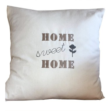 "Housse de coussin ""Home sweet home"""