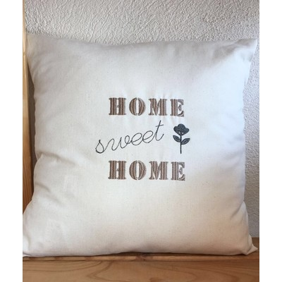 Coussin home sweet home