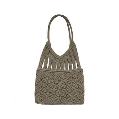 sac à main en macramé marron